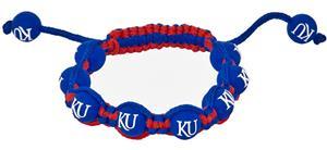 Eagles Wings NCAA Kansas University Bead Bracelet