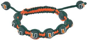 Eagles Wings NCAA Miami Bead Bracelet