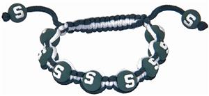 Eagles Wings NCAA Michigan State Bead Bracelet