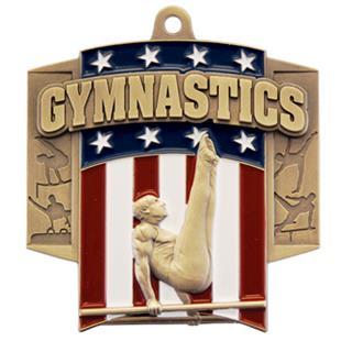 Hasty Awards Patriot Male Gymnastics Medal M-776G