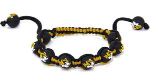 Eagles Wings NCAA Missouri Bead Bracelet