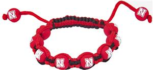 Eagles Wings NCAA Nebraska Bead Bracelet