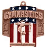 Hasty Awards Patriot Female Gymnastics Medal
