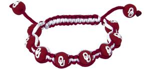 Eagles Wings NCAA Oklahoma Bead Bracelet