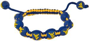 Eagles Wings NCAA West Virginia Bead Bracelet