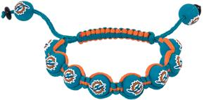 Eagles Wings NFL Miami Dolphins Bead Bracelet