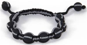 Eagles Wings NFL Oakland Raiders Bead Bracelet