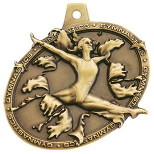 Hasty Awards  Bust Out Gymnastics Medal M-755GF