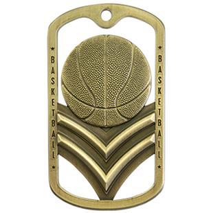 Hasty Awards Dogtag Basketball Medal M-785B