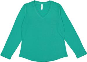 LAT Sportswear Ladies French Terry V-Neck