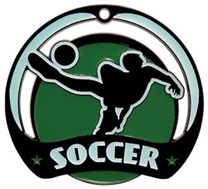 Hasty Awards Glow in the Dark Soccer Medal