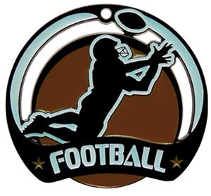 Hasty Awards Glow in the Dark Football Medal