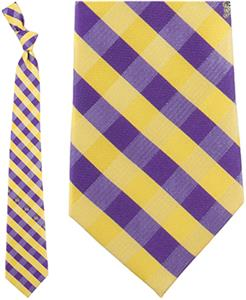 Eagles Wings NCAA East Carolina Checkered Tie