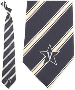 Eagles Wings NCAA Vanderbilt Commodores Stripe Tie