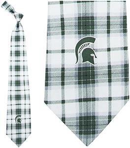 Eagles Wings NCAA Michigan State Spartans Silk Tie