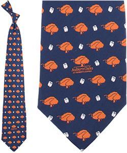 Eagles Wings NCAA Blue Auburn Oaks Silk Tie