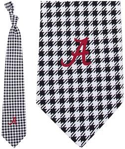 Eagles Wings NCAA Alabama Silk Houndstooth Tie