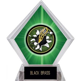 Hasty Awards Green Diamond Lacrosse Ice Trophy