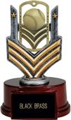 "Hasty Awards 6"" Baseball Dog Tag Trophy"