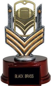 "Hasty Awards 6"" Football Dog Tag Trophy"