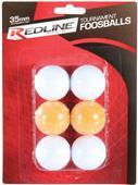 Redline Foosball Table Balls 6pk