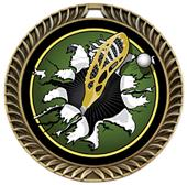 Hasty Awards Crest Lacrosse Medal Bust-Out Insert