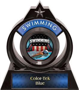 "Hasty Awards Eclipse 6"" Patriot Swimming Trophy"