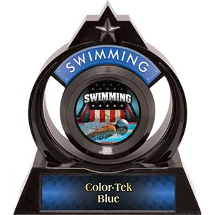 """Hasty Awards Eclipse 6"""" Patriot Swimming Trophy"""