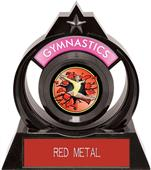 "Eclipse 6"" Gymnastics Red Burst-Out Trophy"