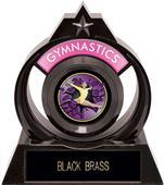 """Eclipse 6"""" Gymnastics Purple Burst-Out Trophy"""