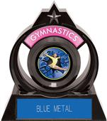 "Eclipse 6"" Gymnastics Blue Burst-Out Trophy"