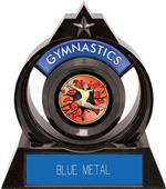 "Eclipse 6"" Gymnastics Red Burst-Out Trophy"