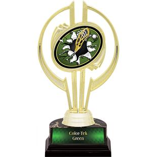 """Gold Hurricane 7"""" Bust-Out Lacrosse Trophy"""