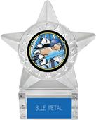 "Hasty Awards 6"" Star Ice Bust-Out Swimming Trophy"