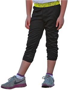 Soffe T-Ball Girls Printed Waistband Pants