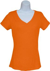 Trecento Ladies/Juniors Short Sleeve V-NeckTee