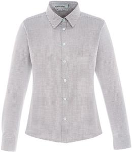 North End Ladies Paramount Twill Checkered Shirt