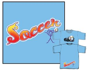 Coed Tail Print Light Blue soccer tshirts