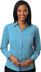Blue Generation Ladies Heathered Crossweave Shirts
