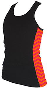 Boxercraft Womens/Girls Chevron Racer Tanks Tops