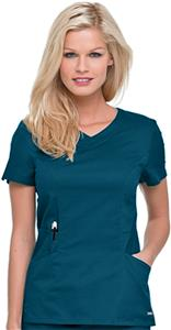 Landau Women's Banded Crossover V-neck Scrub Top