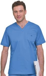 Landau Men's Stretch V-Neck Scrub Tops