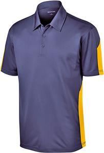 Sport-Tek Adult Active Textured Colorblock Polo