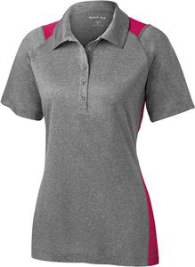 Sport-Tek Ladies Heather Colorblock Contender Polo