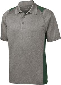 Sport-Tek Adult Heather Colorblock Contender Polo