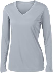 Sport-Tek Ladies Long Sleeve V-Neck Competitor Tee