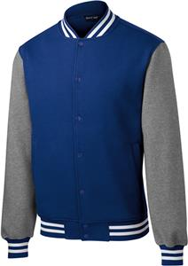 Sport-Tek Adult Fleece Letterman Jacket