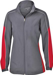 Sport-Tek Ladies Piped Colorblock Wind Jacket