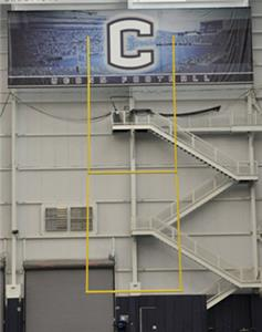 Jaypro Ceiling Suspended Football Goal Posts