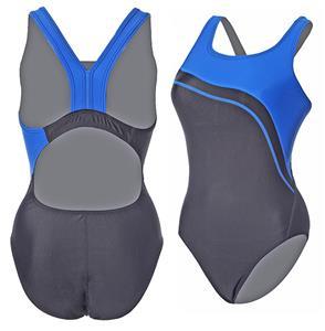 Adoretex Womens Wide Strap Splice 1 Piece Swimsuit